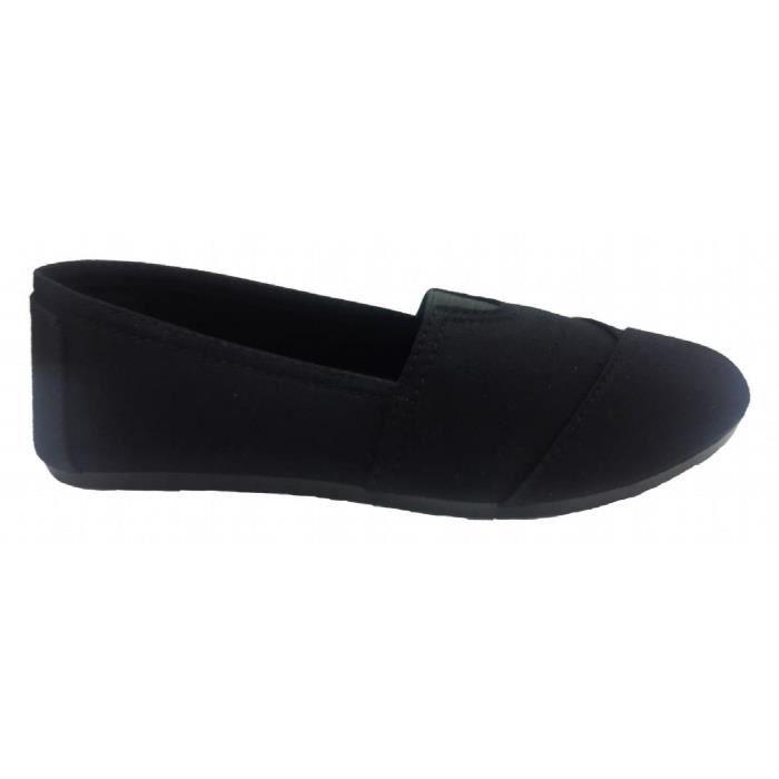 Casual élégant plaine Toile Slip-on Chaussures plates, Espadrilles Mocassins QJDOO Taille-39