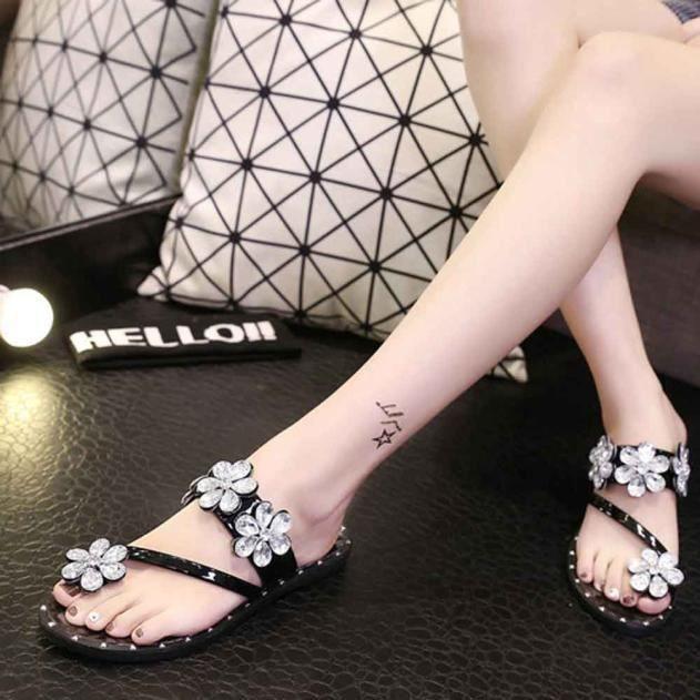 De Sandales Plage Mode Tongs D't Chaussures Slipper 7889 Intrieur Diamant Extrieur Zq8EU