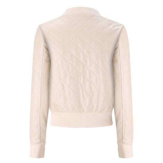 coat3475 De Xxl71026492bg Revers Mince Cuir Pour Manteau Beige Femme En D'hiver 6qwpHv