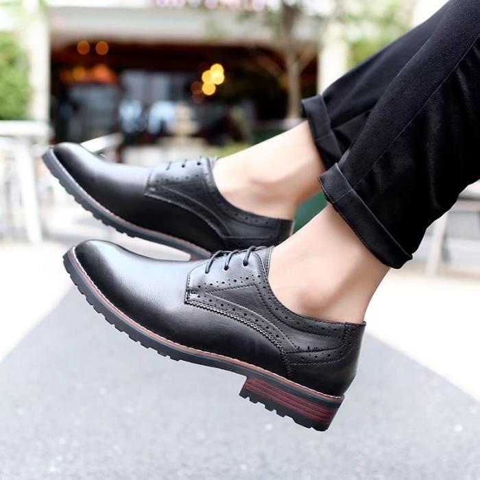 chaussures et l'été cuir Derby hommes printemps air en 2017 en décontractée Le plein zOxqtxA4w