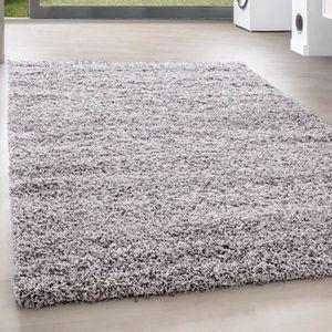 TAPIS Shaggy Shaggy Long pile Pas cher tapis gris clair