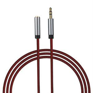 CÂBLE AUDIO VIDÉO 1m 3.5mm audio extension de câble casque audio sté