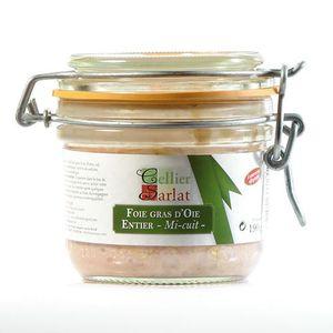 FOIE GRAS Foie Gras d'Oie Entier mi-cuit, 190g