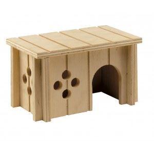 ACCESSOIRE ABRI ANIMAL Ferplast Maison en bois Sin (Taille: S