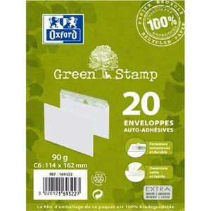 ENVELOPPE OXFORD 20 enveloppes 100% recyclé auto-adhésives -