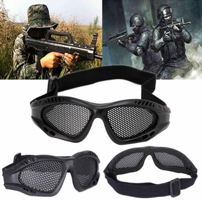 Petrichor® Tactique Durable extérieur Sécurité Protection des yeux Métal Mesh Lunettes Goggle