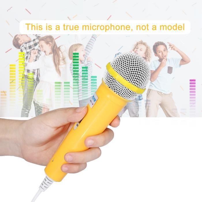 Microphone Musique Vidéo Cadeau Pour Enfants - Jaune