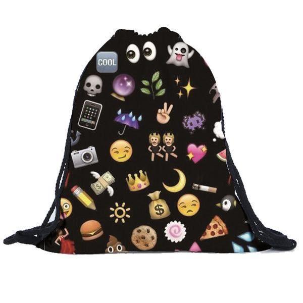 A Homme Sport Schoolbag Dos Garçons Sac College École Emoji Student Sacs Rucksack Filles Étudiants À Unisexe Femme Backpack 84dxPwq