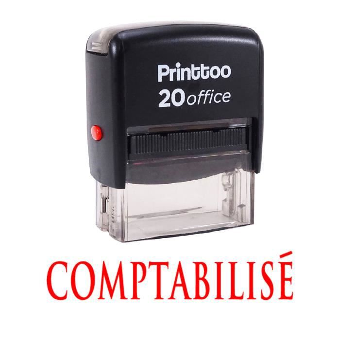 Printtoo Personnalis Stamp Comptabilise Self Encrage Rubber Stationary Office Rouge