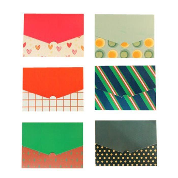 Set Of 4 24 Piece Creative Mini Lettre Cartes Danniversaire