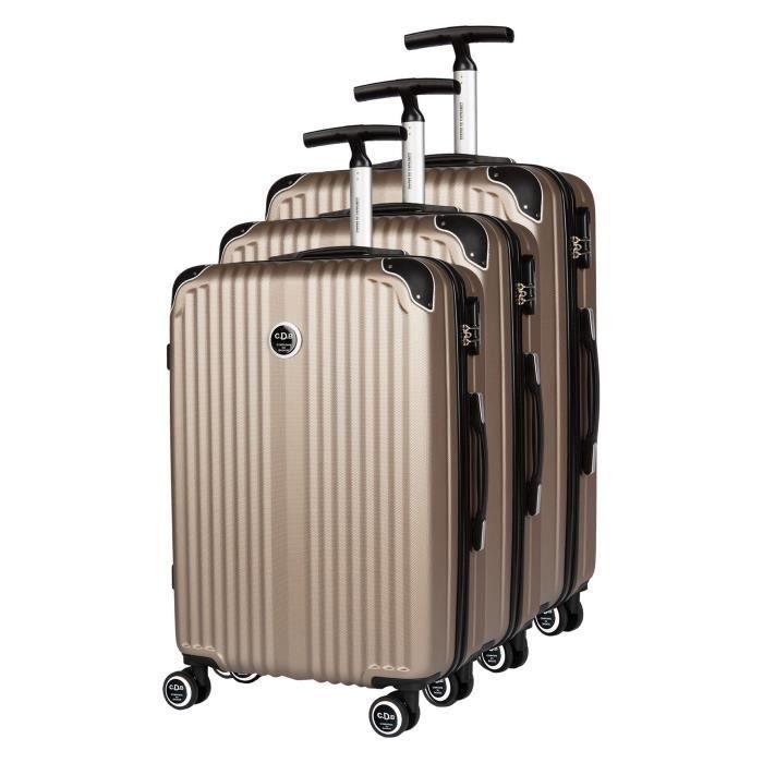 Ensemble 3 valises rigides Compagnie du Bagage Pastel Champagne marron CL7gBVT3g