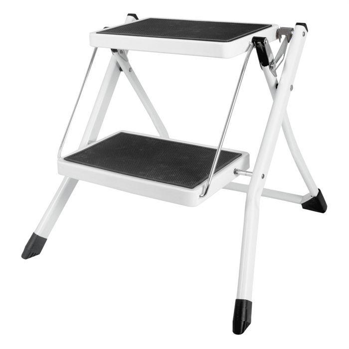 tabouret marche pied cogex 2 niveaux noir blanc achat vente marchepied tabouret marche. Black Bedroom Furniture Sets. Home Design Ideas