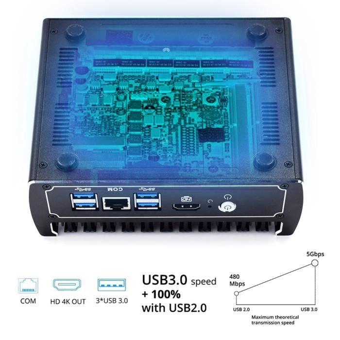 UNITÉ CENTRALE  HYSTOU FMP07B-i3 7100U-6L Mini PC, Processeur Inte