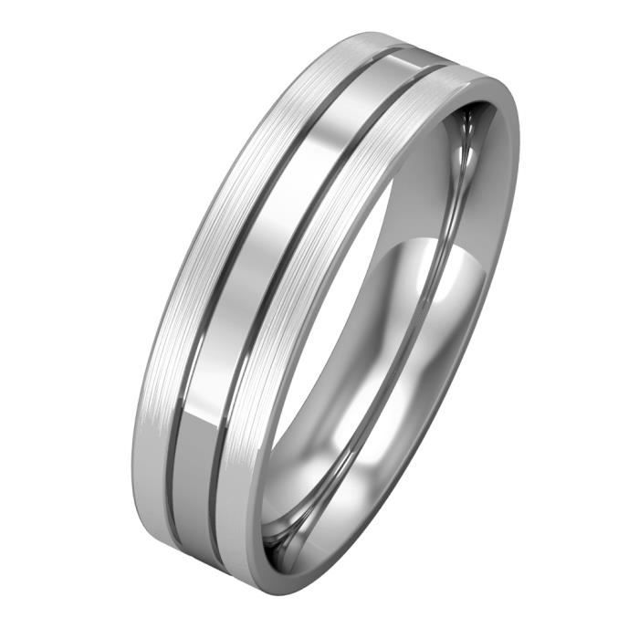 Jewelco London Or blanc 9k mariage bague 5mm