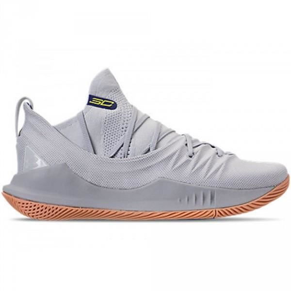 promo code 43cdf 4b933 Chaussure de Basketball Under Armour Curry 5 Grey Gum Grise Pour Hommes