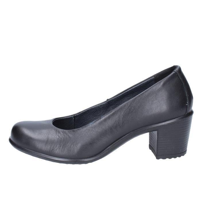 a03ed05713dae Chaussure femme escarpins cuir noir - Achat   Vente pas cher