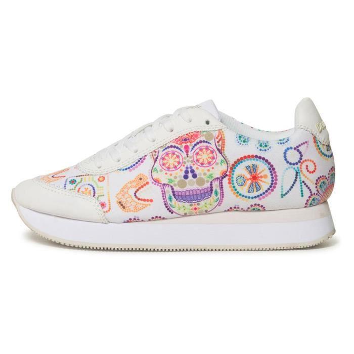 énorme réduction 3ec45 c5da1 chaussures femme baskets desigual skull. chaussures 4 baskets en tissu  femme.
