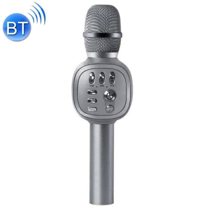 Microphone Haute Qualité Sonore Portable Ktv Enregistrement Karaoké À Condensateur Sans Fil Bluetooth (noir) - 243228 Noir