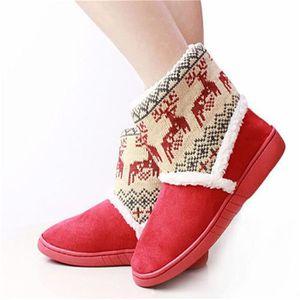 Bottines Femmes Deer Snow Boots hiver Coton-rembourré Chaussures BMMJ-XZ033Gris37 BjcsegM4