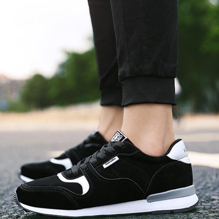 online store 3e2ed 6374e Chaussures Noir Basket Confortable De Homme Course zYB4qZa