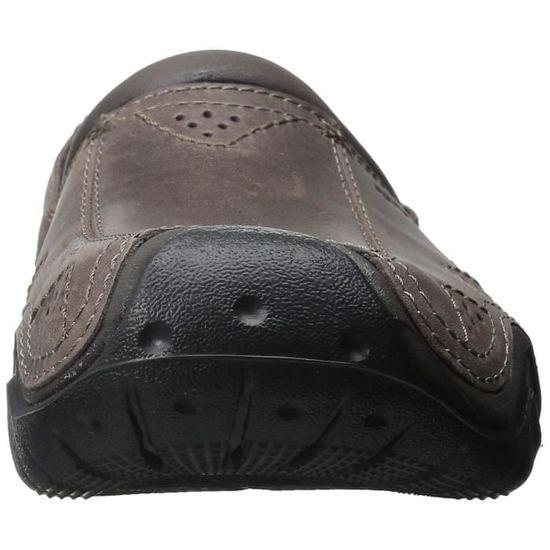 Crocs Chaussure de sabot en cuir swiftwater pour hommes YT7NF zGJUZhVFx