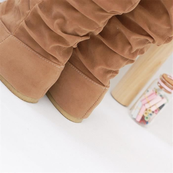 Bottes femms Mince Sexy sur le genou haute En Daim femme neige bottes de femmes de mode d'hiver cuisse haute bottes chaussures LzqMk7a6m