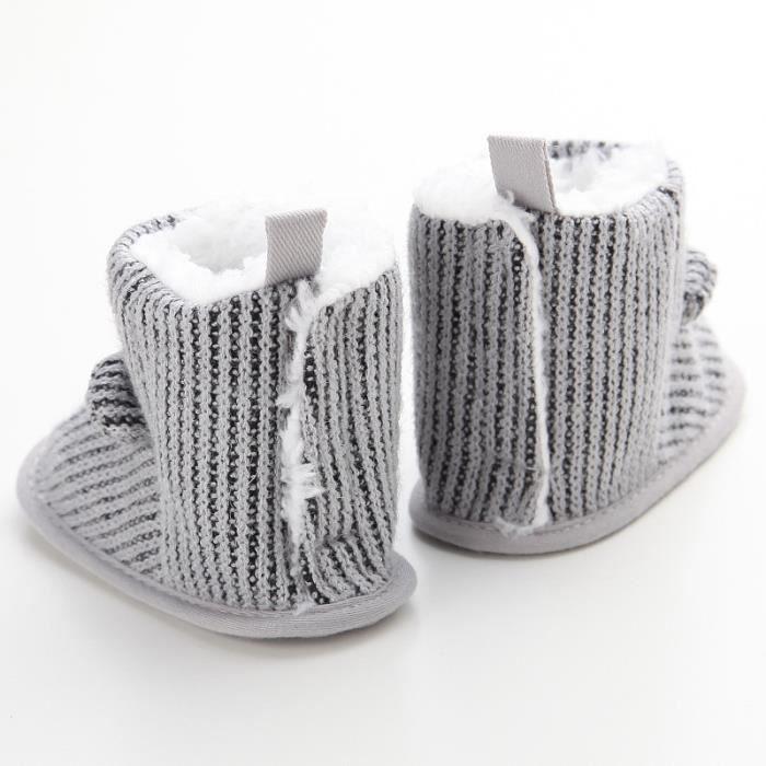 Nouveau Hiver Chaussures de bébé Mignon Loisirs Garde au chaud Fond mou Bébé Bottes de neige axgVX5L