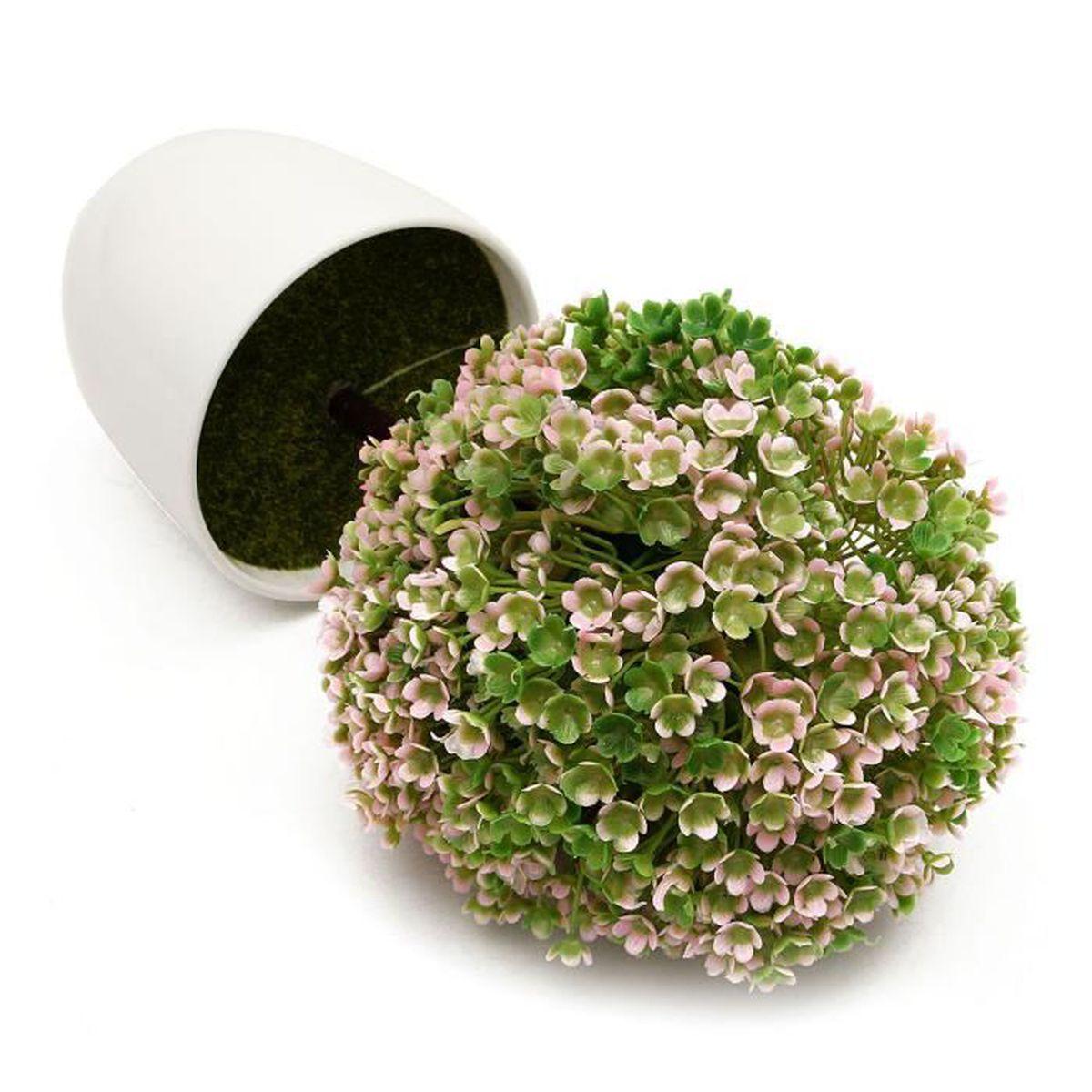 Boule artificielle herbes arbre pot pvc maison d coration for Arbre artificielle