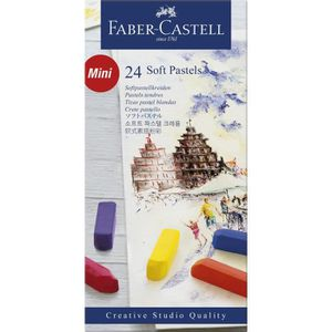 PASTELS - CRAIE D'ART FABER-CASTELL Boîte 24 Demi Pastels Carrés Tendres