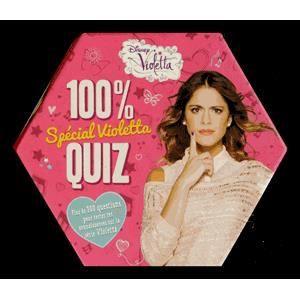 LIVRE JEUX ACTIVITÉS 100 % quiz spécial Violetta