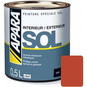 PEINTURE   VERNIS Peinture Spéciale SOL SATIN 0.5 LitreRouge Tomette