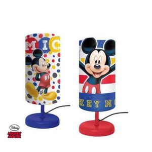 LAMPE A POSER Lampe de Chevet Cylindre MICKEY MOUSE Enfant Chamb