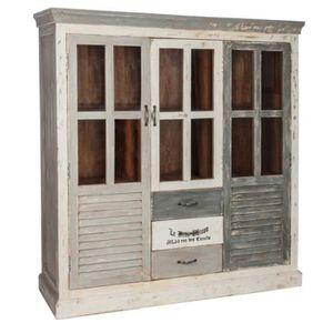 ARMOIRE DE CHAMBRE Armoire chic Château 2 Portes 3 tiroirs patinée vi