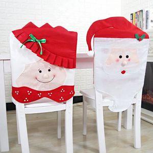 HOUSSE DE CHAISE 2pcs Décoration de Noël Housse de chaise