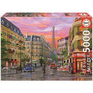PUZZLE EDUCA Puzzle 5000 Pièces - Rue Paris, D. Davison