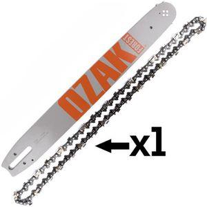 GUIDE TRONCONNEUSE Guide chaîne Pro tronçonneuse 45cm 3/8 1,6mm 66E =