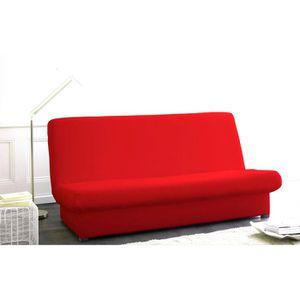 housse de clic clac unie pomme d amour achat vente housse de canape cdiscount. Black Bedroom Furniture Sets. Home Design Ideas