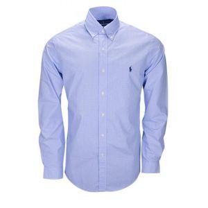 Chemise Ralph Lauren vichy bleu pour homme - Couleur  Bleu - Taille ... 6b24cb728fae
