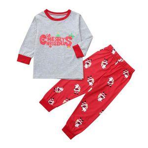 24afd128e3912 Ensemble de vêtements Enfant Bébé Garçon Fille Père Noël Blouse Pantalon
