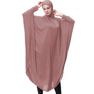 ROBE Femmes Robe Lady Daily Casual musulman Soild à man