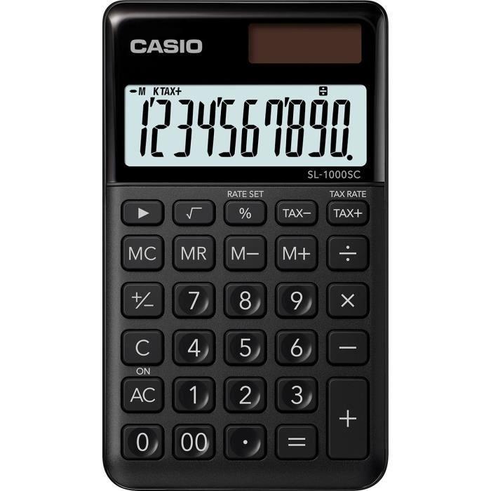 CASIO Calculatrice de poche SL-1000SC-BK-S-EP noire