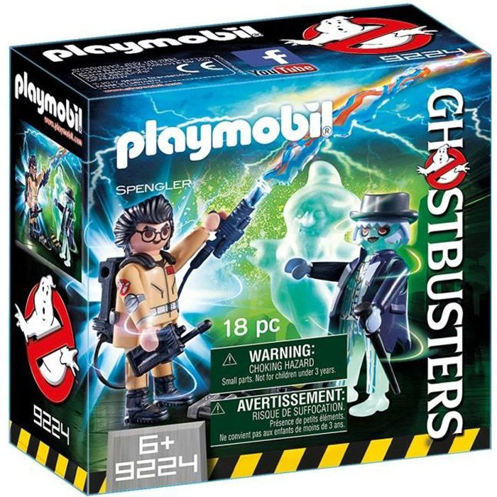 PLAYMOBIL Ghostbusters Editions Limitées Spengler et Fantôme. Mixte. Dès 6 ans - livré à l'unitéFIGURINE MINIATURE - PERSONNAGE MINIATURE