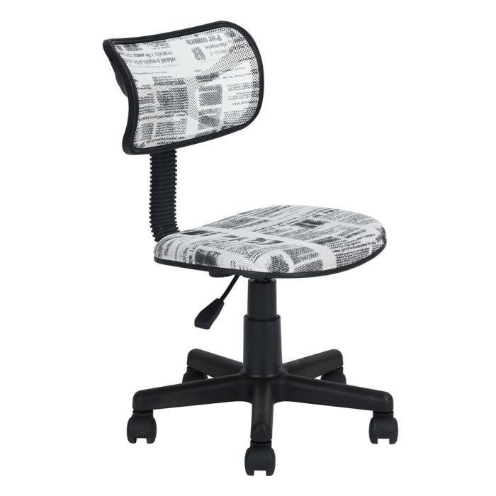 À Hauteur MaillesMotif Réglable Pivotant Furniturer De Revêtement Chaise Bureau Journal Roulant Tissu En qGMUzSVp