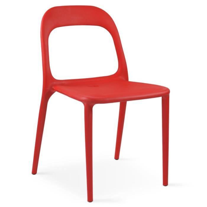 FAUTEUIL JARDIN Chaise En Plastique De Jardin Rouge
