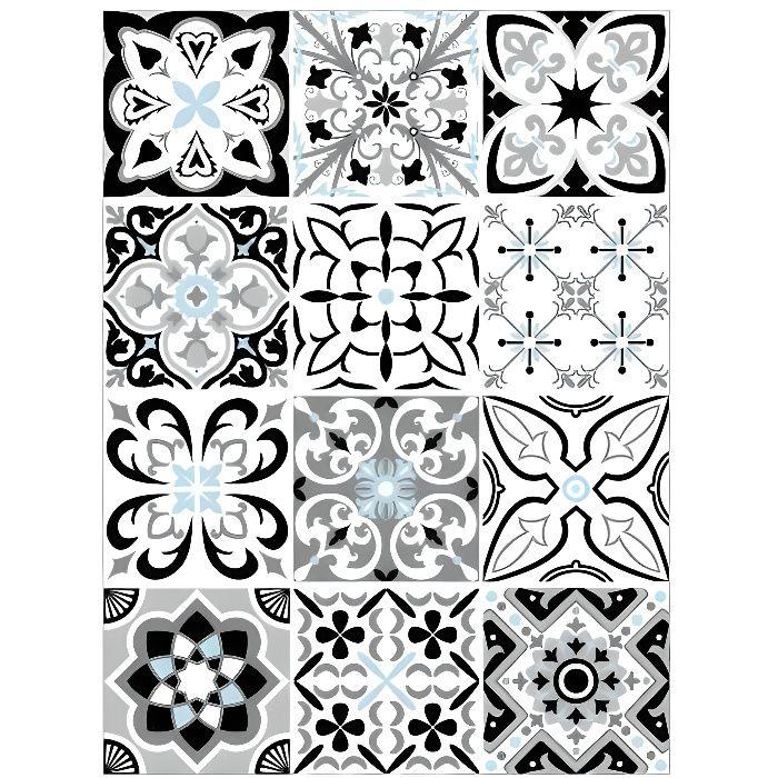 Stickers carreau de ciment 10x10 - Achat / Vente pas cher