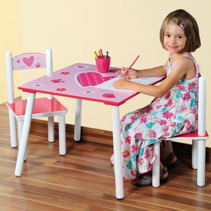 table et chaise enfant fille achat vente jeux et jouets pas chers. Black Bedroom Furniture Sets. Home Design Ideas