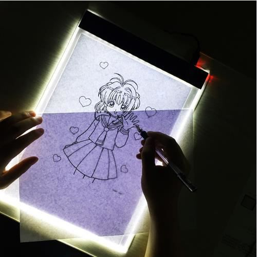 Numérique Pads Graphique Peinture Diamond Led Portable Lampe Tablette A4 Artcraft Copie Dessin rxCedBo