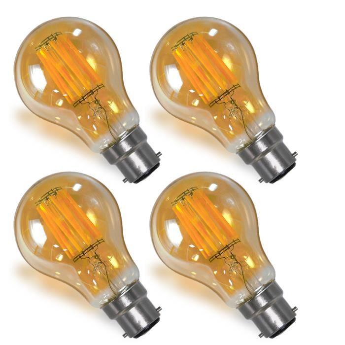 Lampe Incandescente 8w Enuotek Led De Baionnette Décorative A Vintage Globe Remplace Filament Ampoule Rétro Culot B22 Edison 4R3ALSc5jq