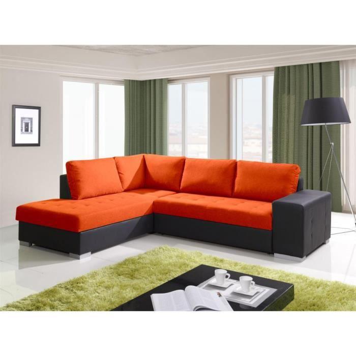 justhome porto canap d 39 angle couleur orange l32 h x l x l 88 x 212 x 280 cm achat. Black Bedroom Furniture Sets. Home Design Ideas