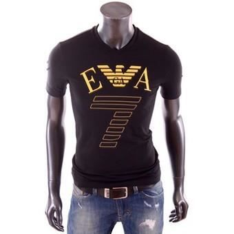 d624fcebcd18 T-Shirt Emporio Armani EA7 Homme Manche Courte Noir - Achat   Vente ...